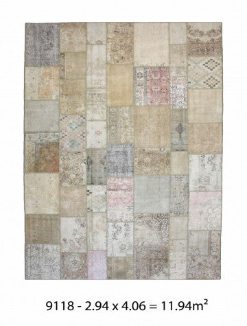 10157 - Vegetable Dye Wool Large Rug - 300X400cm