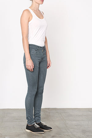 Low Rise Skinny Jeans Wash Grey