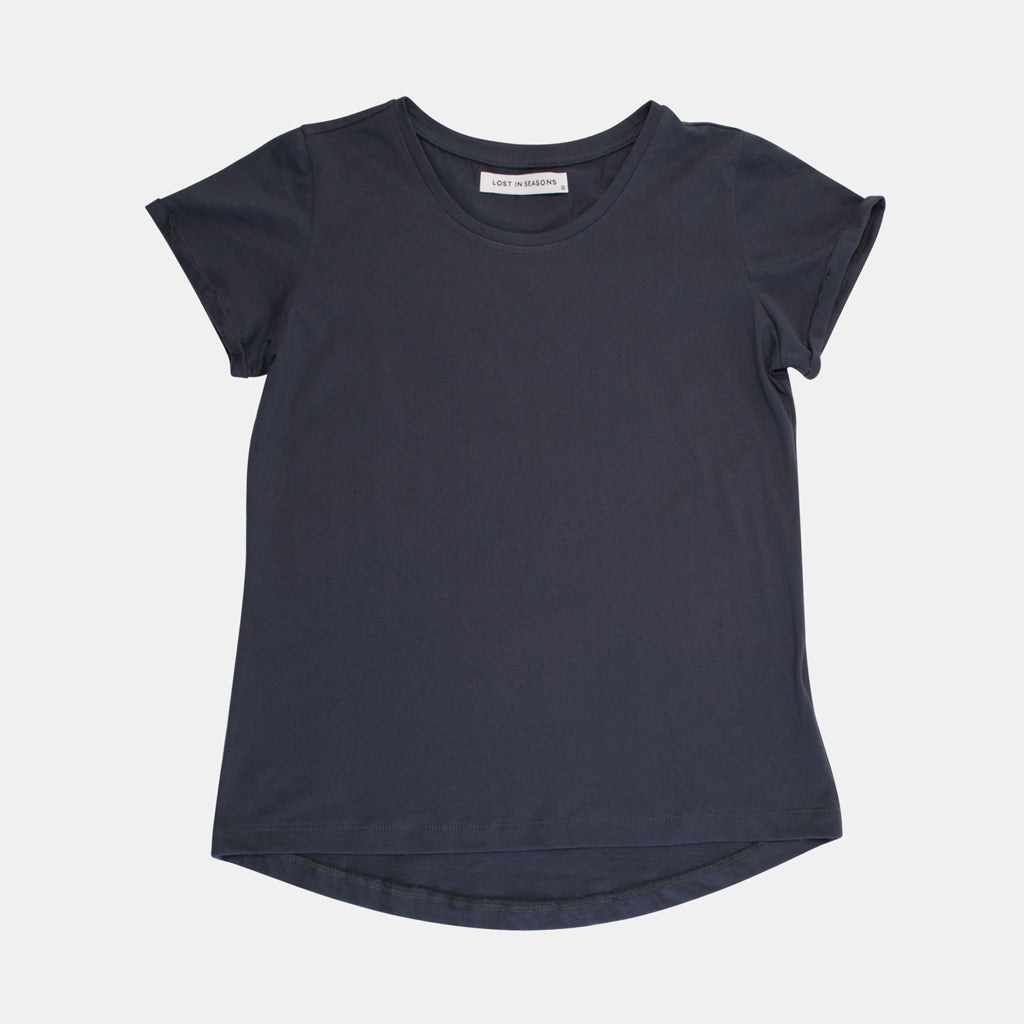 Round Neck T-shirt Ink Blue