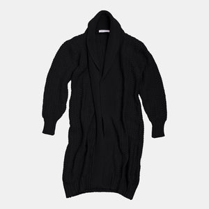 Long Heavy Cardigan Black (PRE-ORDER: 15 APRIL DELIVERY)