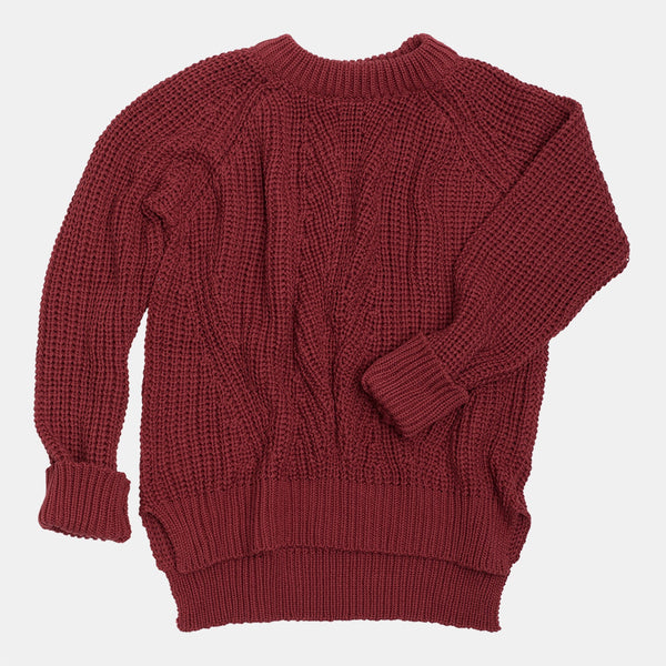 Knit Jumper Red Pear