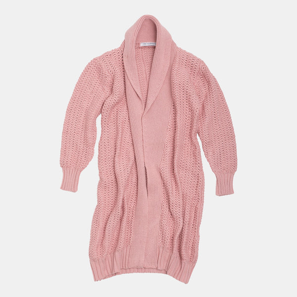 Long Heavy Cardigan Dusty Rose