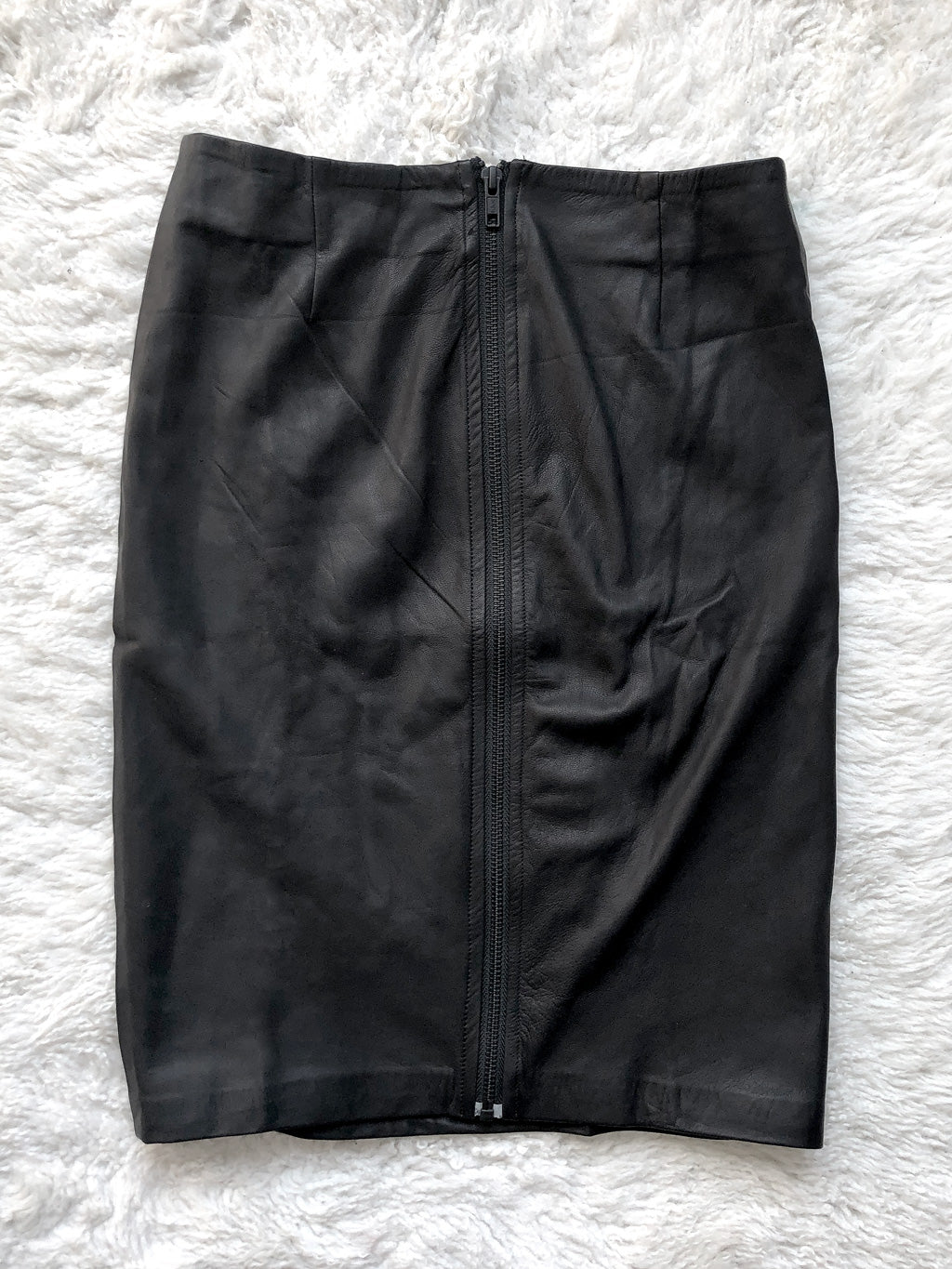 Pencil Skirt with Back Zip Black