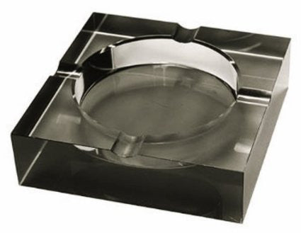 Crystal Ashtray Black