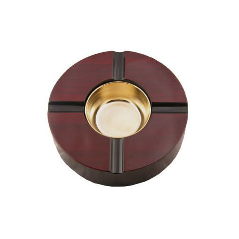 Ashtray 4 Cigars Cherry Lacquer Finish