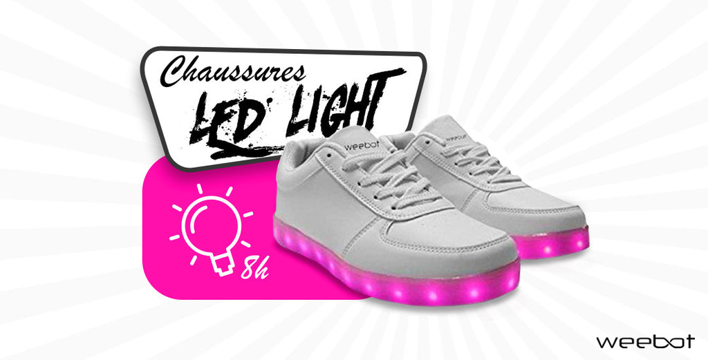 chaussure led blanche basse banniere