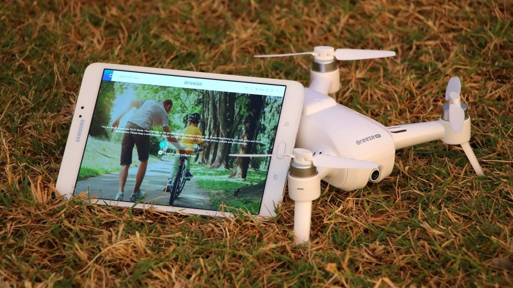 drone yuneec breeze 4k smartphone application