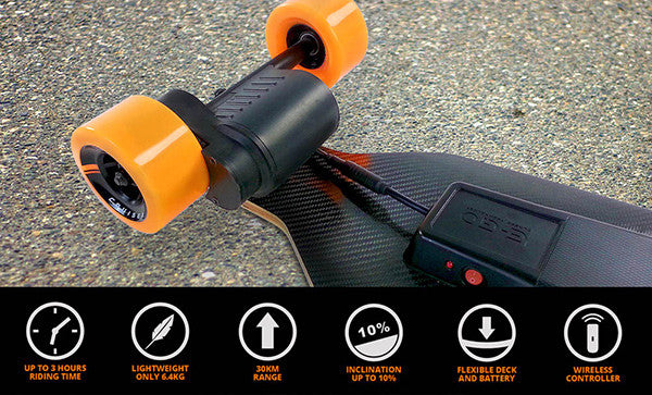 skateboard yuneec electrique specifications