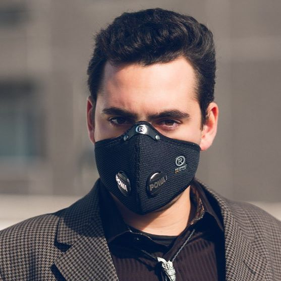 masque anti pollution respro techno noir homme