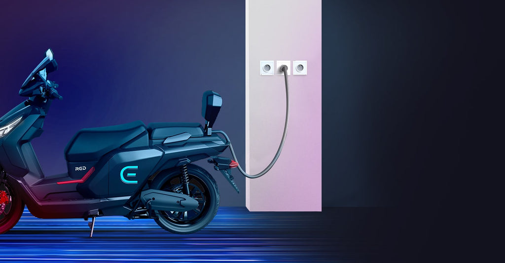 scooter electrique RED Electric E100 charge rapide