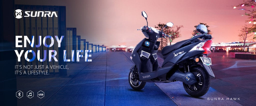 scooter electrique sunra hawk banniere