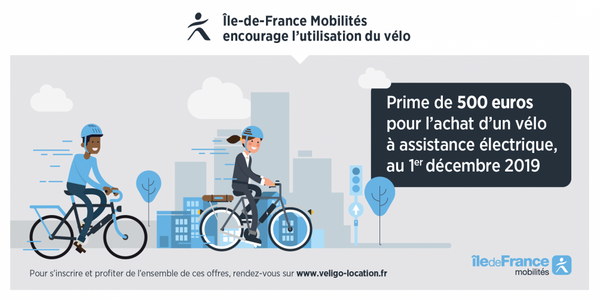 subvention velo electrique ile de france 2020