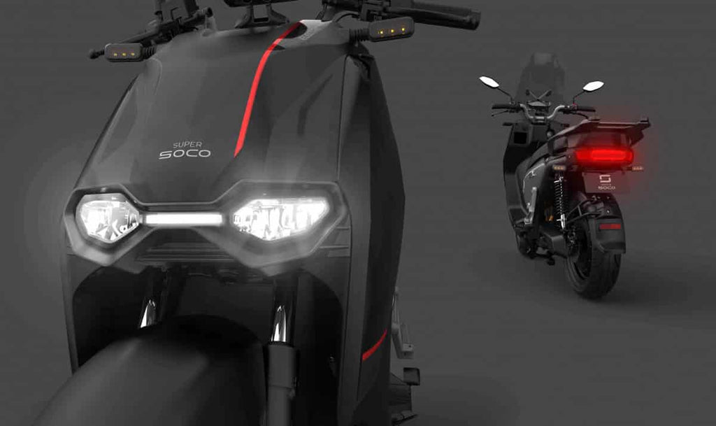 scooter electrique super soco cpx phare led