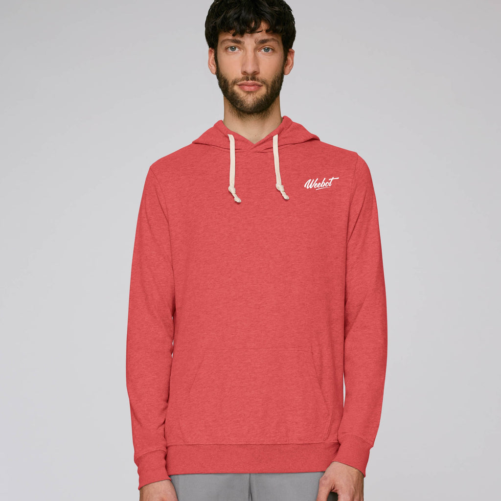 sweat shirt weebot suede rouge homme