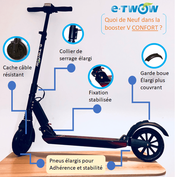 trottinette electrique etwow booster V confort liste amelioration