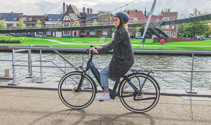 velo electrique o2feel iswan city up 5.1 ville lifestyle femme