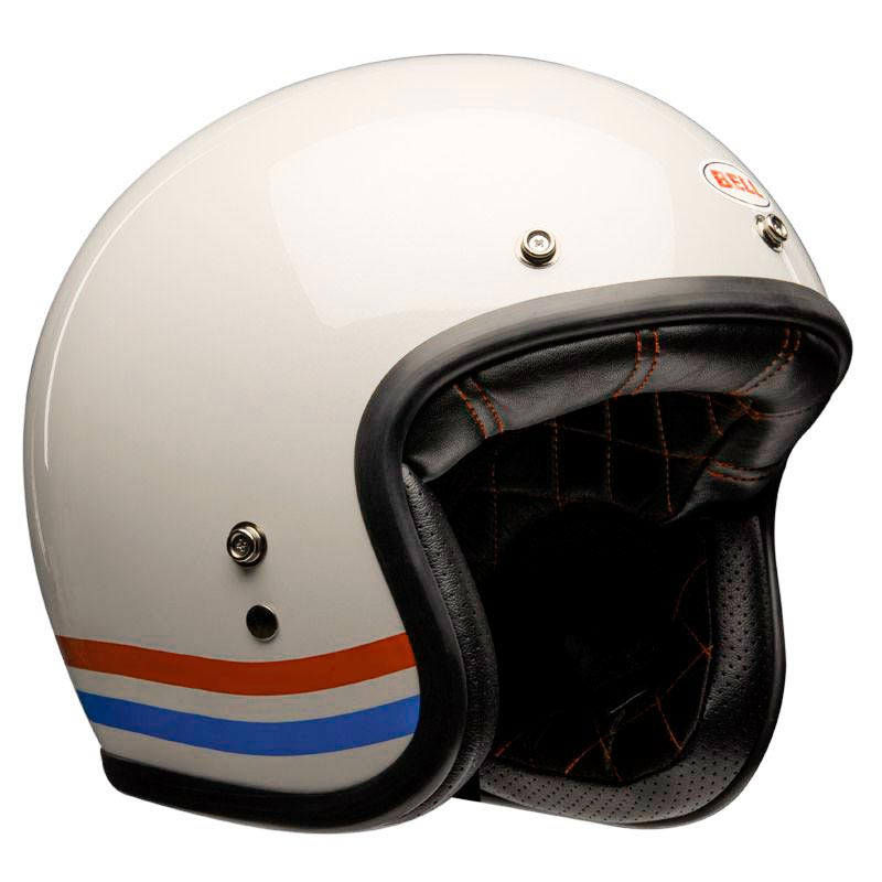 Casque Bell Custom500 C500 DLX Stripes White