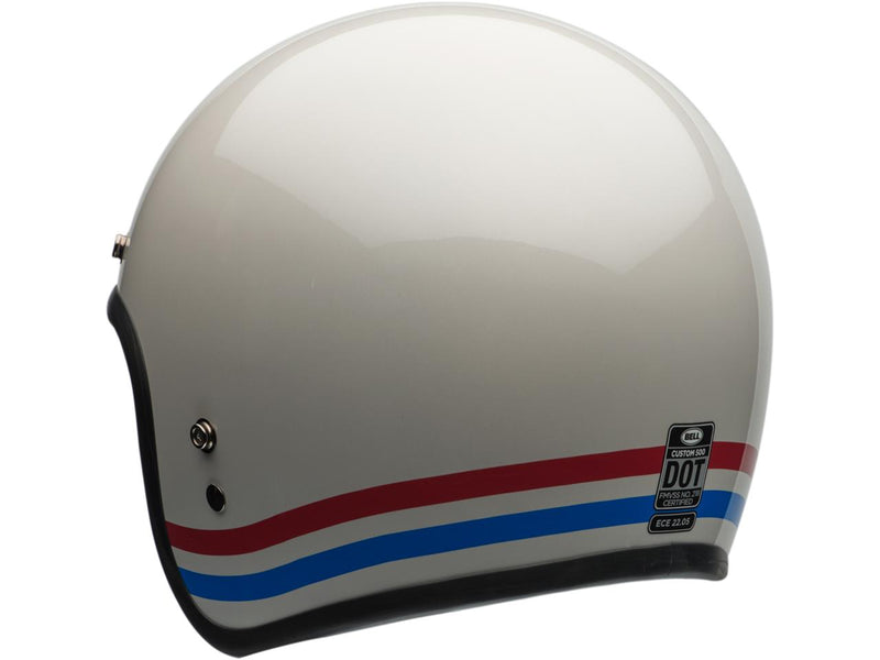 Casque Bell Custom500 C500 DLX Stripes White Arriere