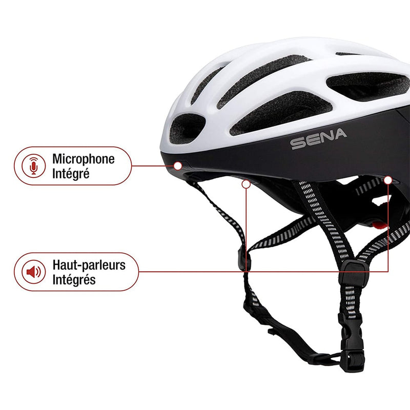 Casque velo SENA R1 matt white description