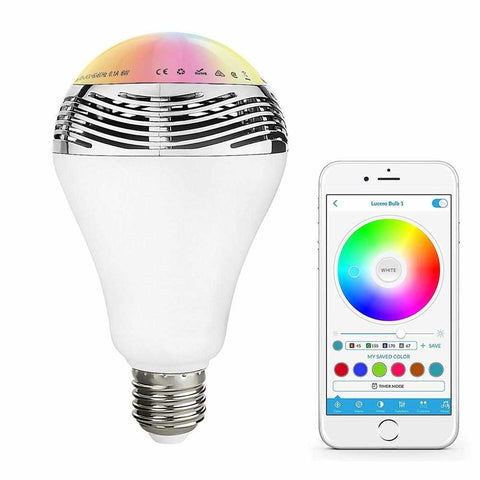 Ampoule connectée Bluetooth Musicale/LED Muvit IO MyMusicBulb - Weebot
