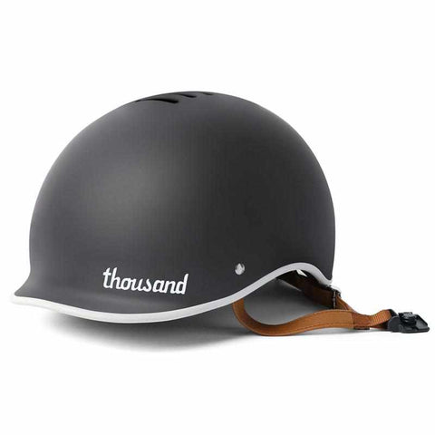 casque velo thousand heritage collection noir carbon visiere