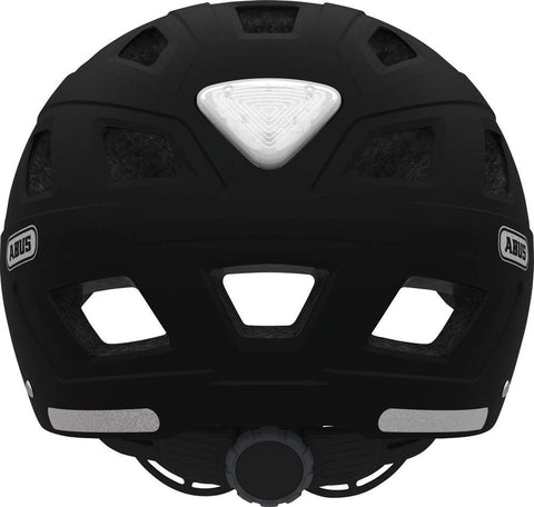 casque abus velo hyban core noir phare led arriere