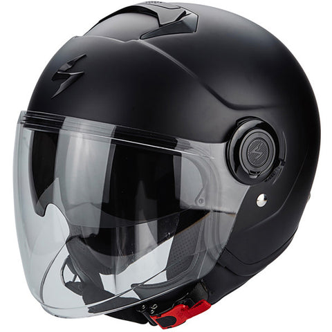 casque moto jet scorpion exo city solid noir mat