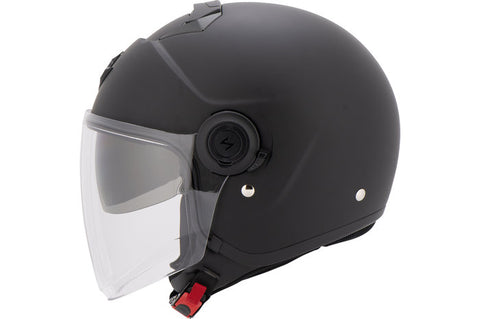 casque moto jet scorpion exo city solid noir mat profil