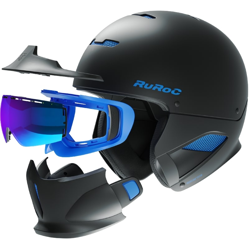 casque ruroc rg1 dx black ice lunette