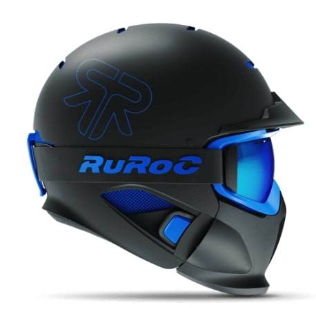 casque ruroc rg1 dx black ice profil