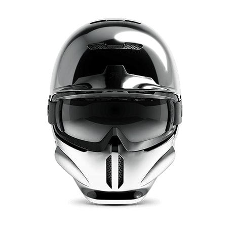 casque ruroc rg1 dx chrome face