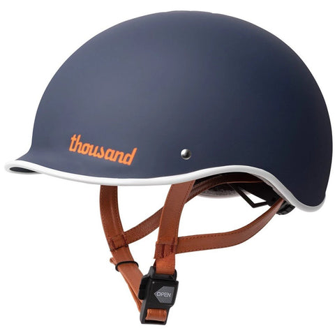 casque velo thousand heritage collection bleu navy laniere cuir