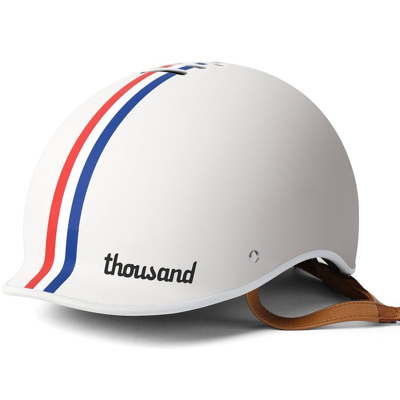 casque velo thousand epoch collection blanc speedway creme visiere