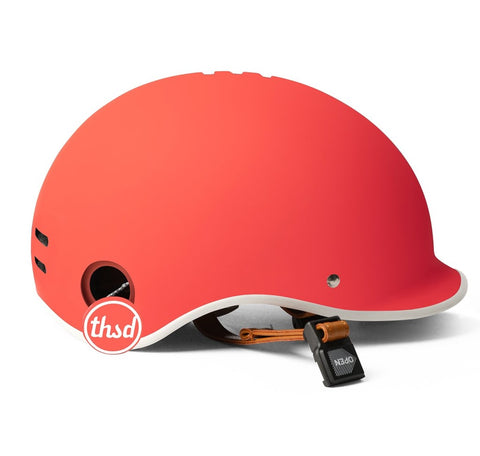 casque thousand velo heritage rouge daybreak red pop lock