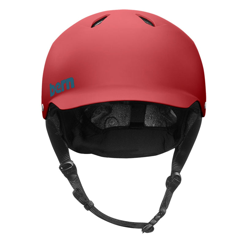 casque velo bern watts eps rouge mat face avant