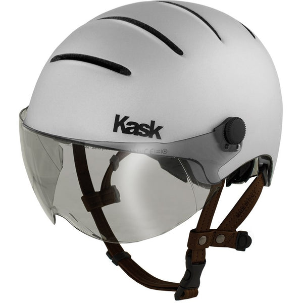 casque velo kask argent visiere weebot