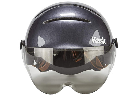 casque velo kask urban lifestyle anthracite gris visiere miroir