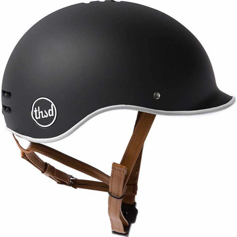 casque velo thousand heritage collection noir carbon lanniere cuir vegan