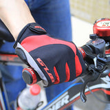 gant protection velo noir rouge hiver lifestyle