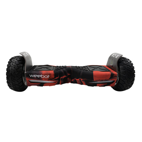 housse hoverboard tout terrain silicone rouge noir
