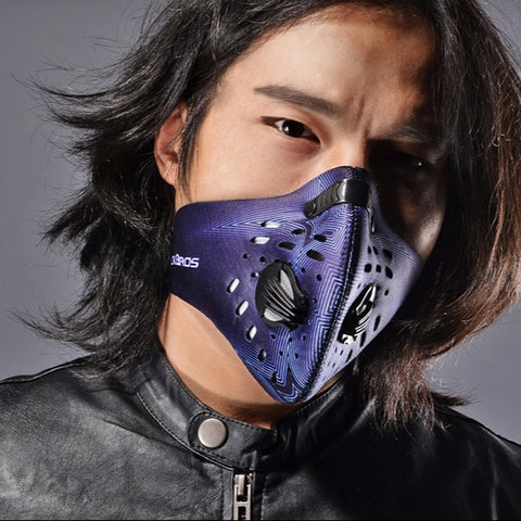 masque anti pollution rock bros noir homme