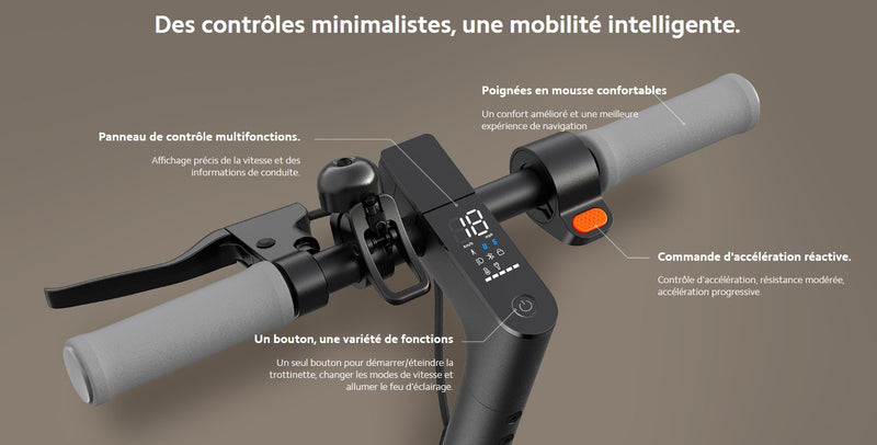 trottinette electrique xiaomi essential LCD guidon