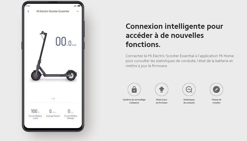 trottinette electrique xiaomi essential application mi home