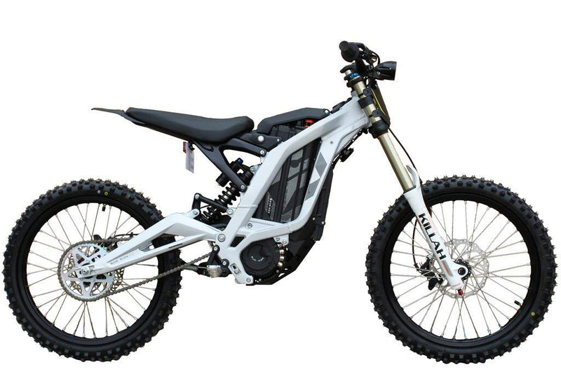moto cross electrique sur ron light bee argent