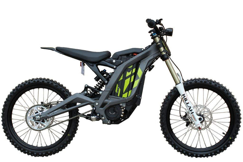 moto cross electrique sur ron light bee gris