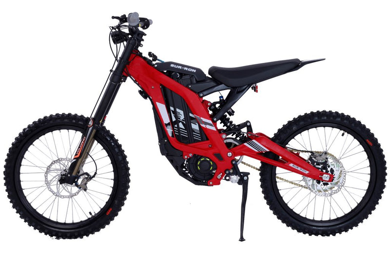 moto cross electrique sur ron light bee rouge