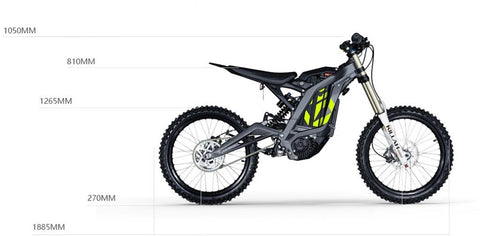 moto electrique cross surron light bee x off road dimension