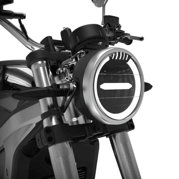 moto electrique horwin cr6 phare avant led