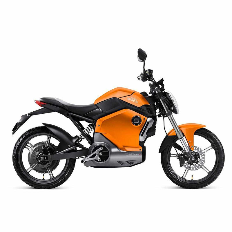 moto electrique super soco ts1200 orange profil