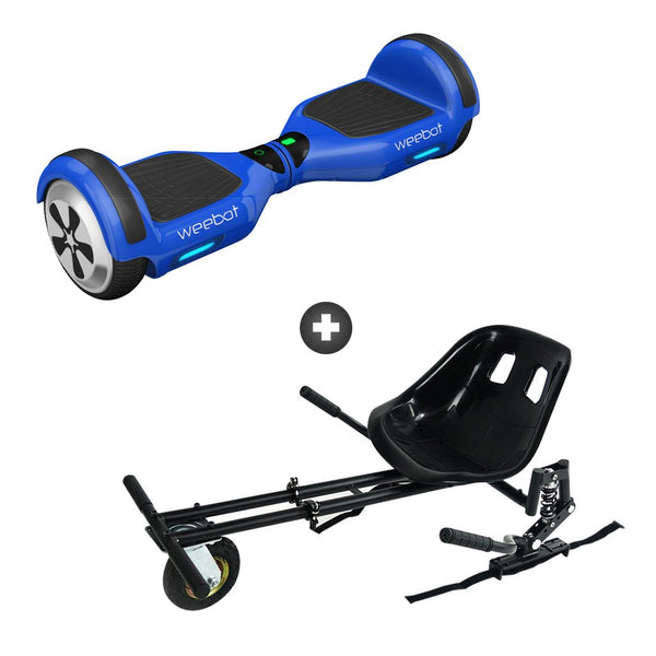 pack hoverkart hoverboard weebot classic bleu pas cher